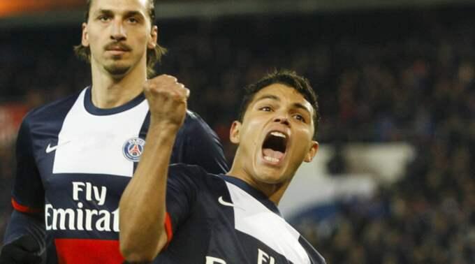 Thiago Silva och Zlatan Ibrahimovic Foto: Imago Sportfotodienst