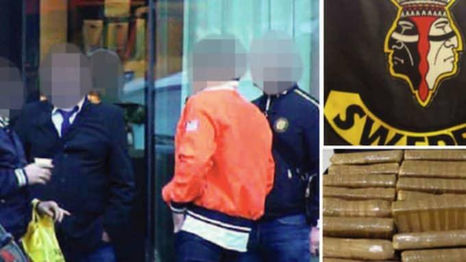 Narkotikan var fördelad i 38 paket som tillsammans vägde 37,7 kilo. Analysen visade att det var 77-82 procent kokain. Foto: Polisen