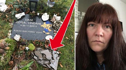 Liam dog som nyfödd – nu har graven skändats