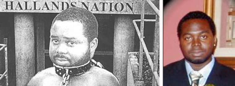 """""""Vår negerslav är bortsprungen"""" stod det på affischen som föreställde en bild på Afrosvenskarnas riksförbunds ordförande Jallow Mamodou."""