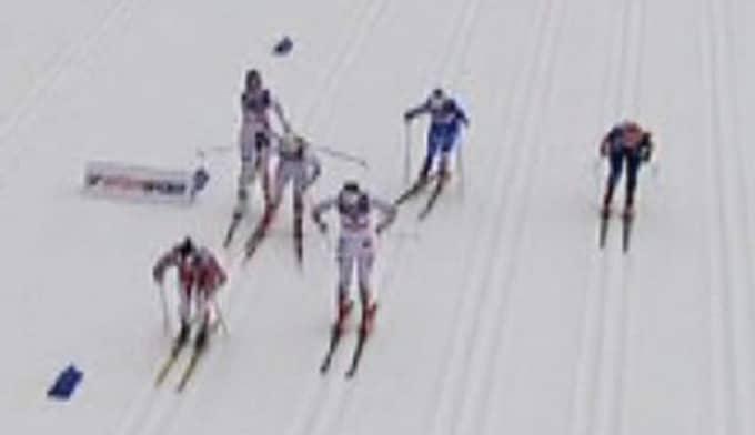Foto: Bild från Eurosports sändning.
