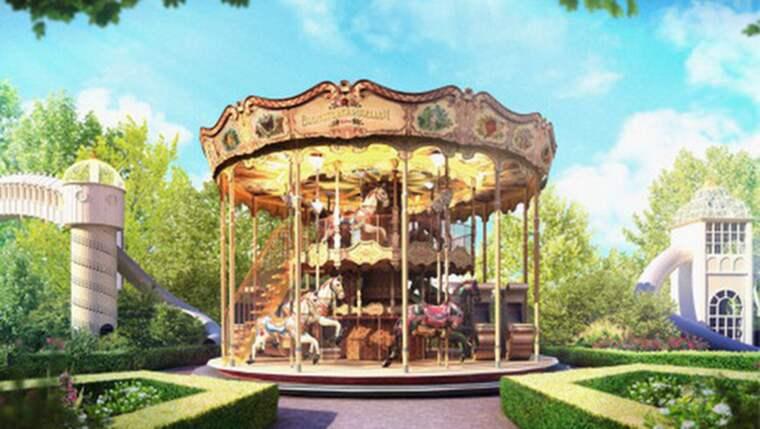 """En ny """"dubbeldäckskarusell"""" ska locka nya besökare till Liseberg. Foto: Pressbild"""
