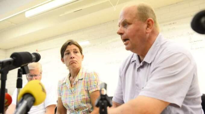 Landsbygdsminister Eskil Erlandsson (C) under tisdagens presskonferens. Foto: Alexander Donka