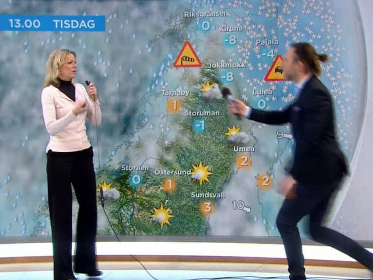 Här räddar Peter Jihde situationen i TV4.