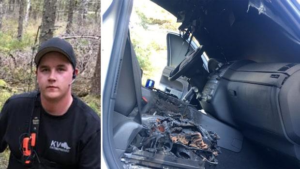 Mattias avlivade varg  – fick bilen sönderbränd