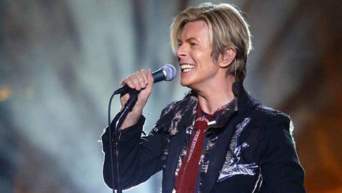 David Bowie vid en spelning i Edmonton 2004. Foto: AP / Darryl Dyck