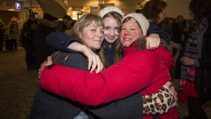Kramkalas. Marie Kössler, Isa Falk, och Annica Svensson var några som var inblandade när kramkalaset utbröt i Göteborg. Foto: Henrik Jansson