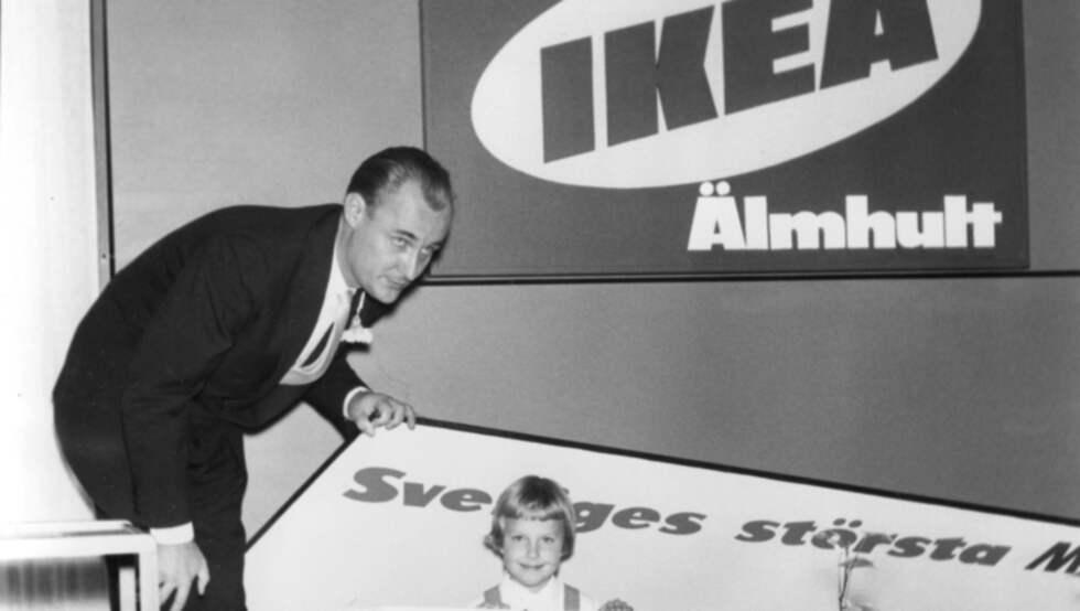 Det första Ikea-varuhuset öppnar 1958 i Älmhult. Foto: OLLE WESTER