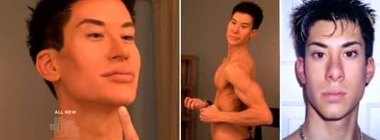 Justin Jedlica har skönhetsopererat sig 90 gånger och har blivit känd som den mänskliga Ken-dockan. Foto: The Doctors
