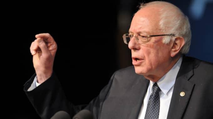 Så segerviss var Bernie Sanders att han bara hade skrivit ett tal inför kvällen Foto: Polaris/Phil Mcauliffe