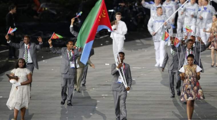 """När OS invigdes i London den 27 juli bar hinderlöparen Weynay Ghebresilasie Eritreas flagga. Men 16 dagar senare valde han att fly från OS-byn och söka asyl i Storbritannien: """"Den politiska ledningen har förstört landet"""", säger han när Expressen träffar honom. Foto: Mike Blake / Reuters"""