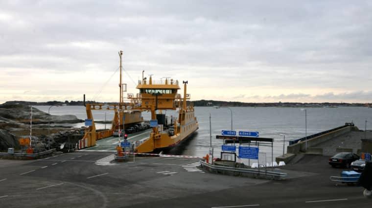 Hönö färjeläge, där utvecklingen av färjors säkerhet är på gång att starta. Bilden är från ett annat tillfälle. Foto: Sara Pettersson