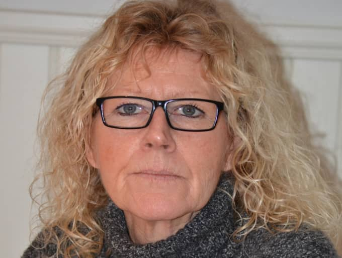 """Nanna Elverhöj, 53, oroar sig för att kommunen inte kan ta hand om de flyktingar som kommer till Emmaboda. """"Vi är nog inte rustade för det ännu"""", säger hon. Foto: Göran Johansson"""