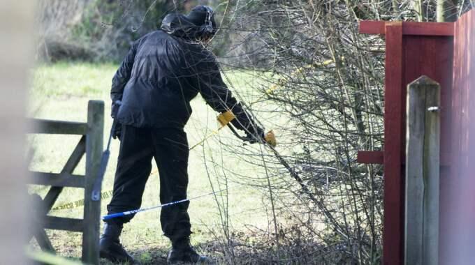 Polisen i York under utredningen. Foto: Mccaren/Lnp/Rex/Shutterstock / MCCAREN/LNP/REX/SHUTTERSTOCK REX FEATURES