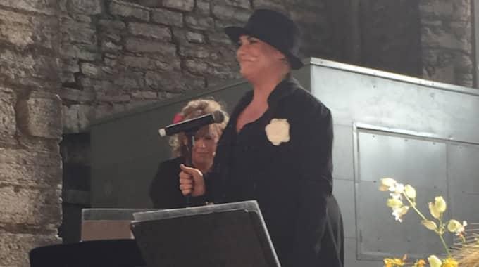 Ett av Josefin Nilssons sista framträdande i Visby under sommaren 2015. Foto: Privat