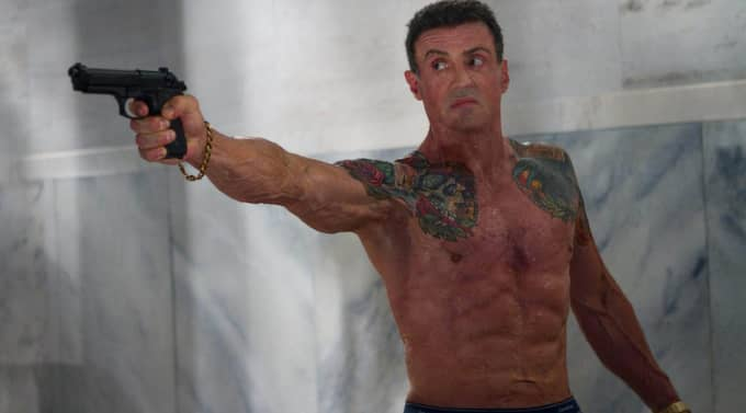"""Sylvester Stallone på en bild från filmen """"Bullet to the head"""". Foto: Planet Photos"""