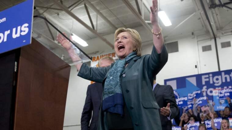 Hillary Clinton vann viktigaste delstaten Arizona i natt. Foto: Carolyn Kaster / AP
