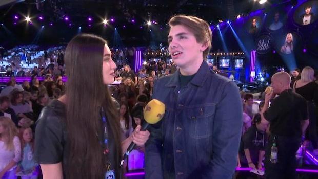 Oskar fick lämna idol 2016