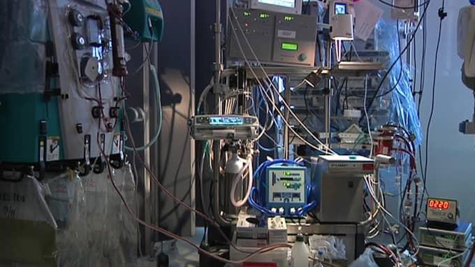 Det har varit stor tillströmning av patienter på Ecmoenheten på Karolinska. Men från och med torsdagen är läget normalt. Foto: Anders Britts/TT