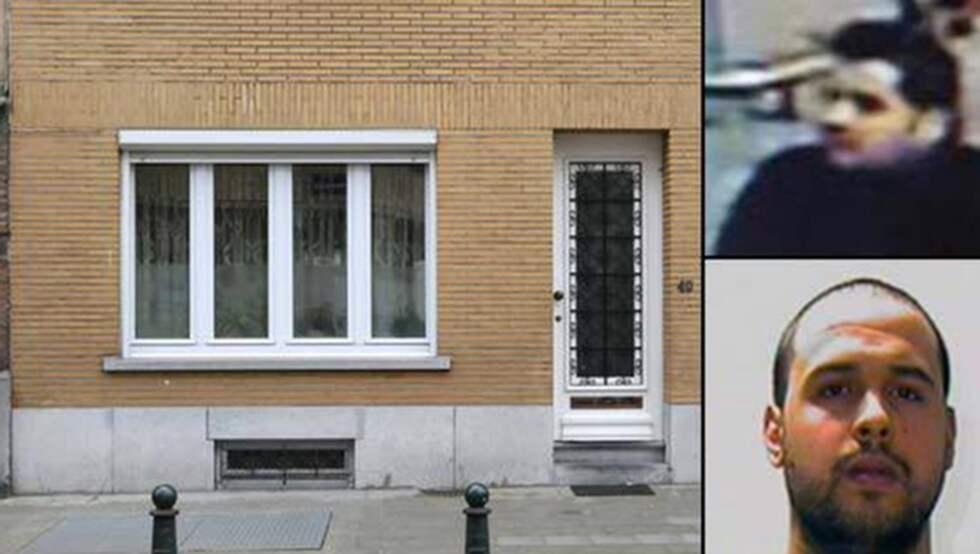 Familjens hem i Laeken. Brahim och Khalid El-Bakraoui till höger. Foto: Kristofer Sandberg