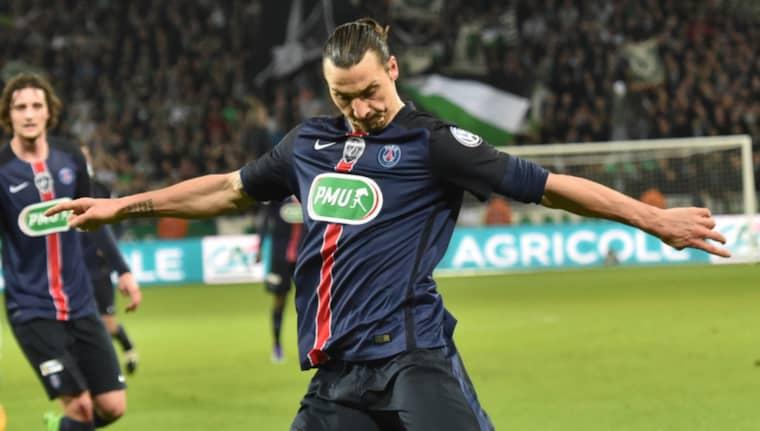 Zlatan hyllas efter sin insats mot Saint Etienne Foto: Frederic Chambert