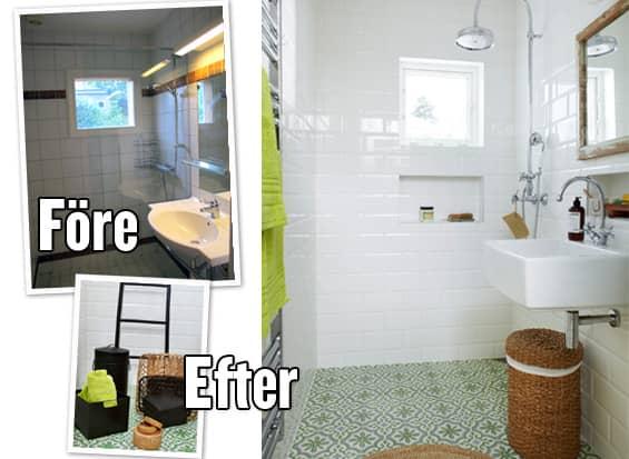 Litet badrum u2013 stor förändring Leva& bo