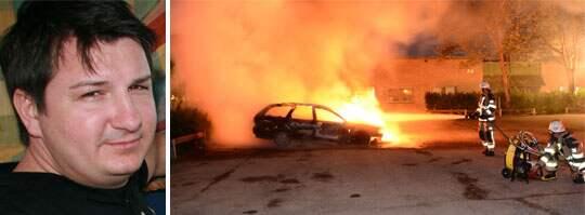 Aleks Sakala fick se sina barns förskola brinna ned