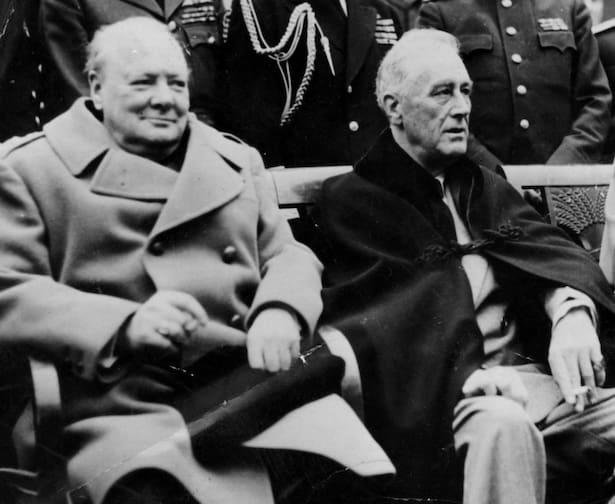 Churchill och Roosevelt träffas i New York