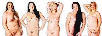 tjejer som visar sina kroppar