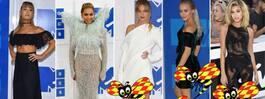 Här är VMA:s bäst och sämst klädda stjärnor