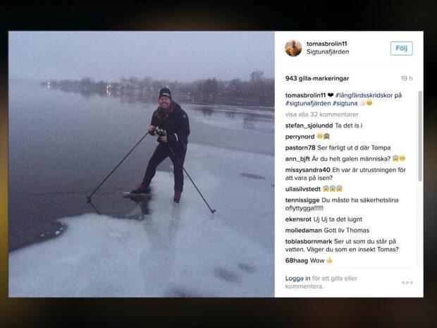 """Kritiken mot Brolins Instagrambild: """"Du är galen"""""""