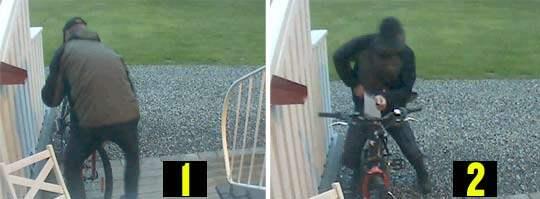 """Mannen som punkterar en cykel och sedan onanerar över den fastnade på en övervakningsfilm som Per Edström satte upp. """"Han är nog fullständigt harmlös, jag tror inte att han är farlig för andra människor, det är cyklar som han går igång på"""", säger Edström."""