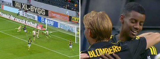 Här sätter Isak ledningsmålet för AIK