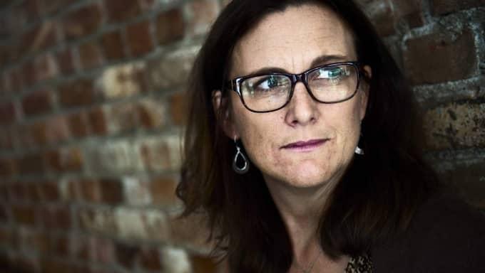 Cecilia Malmström, EU-kommissionär, hamnar på andra plats. Foto: Robin Aron