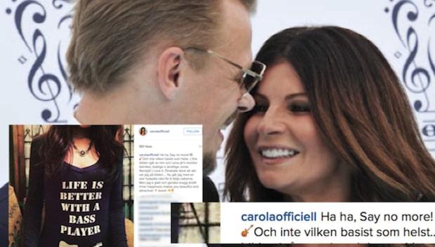 Här är Carola Häggkvists fräcka kärlekshyllning till pojkvännen