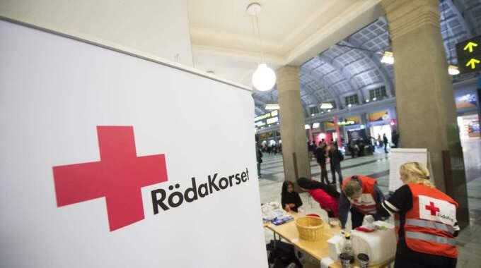 Röda korset på Centralen. Foto: Fredrik Sandberg/Tt