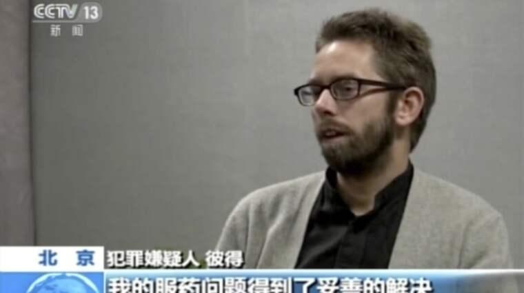 Svenske Peter satt fängslad i Kina.