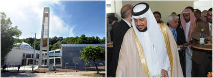 Årtionden i trånga källarlokaler är över. Göteborgs 40 000 muslimer fått en egen moské. Saudiarabiens finansminister Dr. Abu Rachman al Seid var på plats. Foto: Leif Gustafsson
