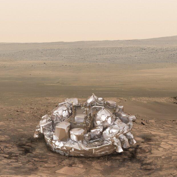 Så här ser det ut på planeten Mars – på natten