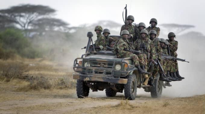 Arkivbild på kenyanska styrkor inne i Somalia från 2012. Foto: Ben Curtis