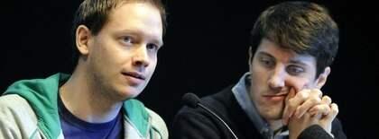 Pirate Bays Peter Sunde på presskonferens. Foto: Jan Düsing