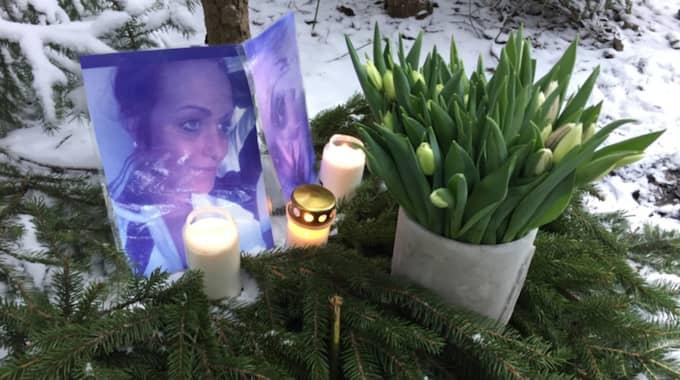 Minnesplats där Madelene hittades död. Foto: Elias Giertz
