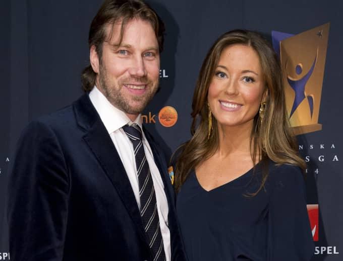 Peter Forsberg och frun Nicole Nordin. Foto: Sven Lindwall