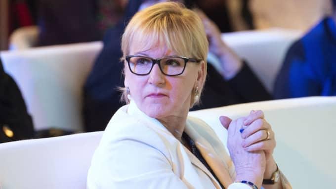 """""""Man borde lösa det här genom att man har ett antal lägenheter som man får låna som övernattningslägenheter när man är minister och inte bor i Stockholm. Men Margot Wallström (bilden) är inget bra exempel eftersom hon skulle kunna köpa sig en lägenhet på en eftermiddag"""", säger Bodström. Foto: Sven Lindwall"""