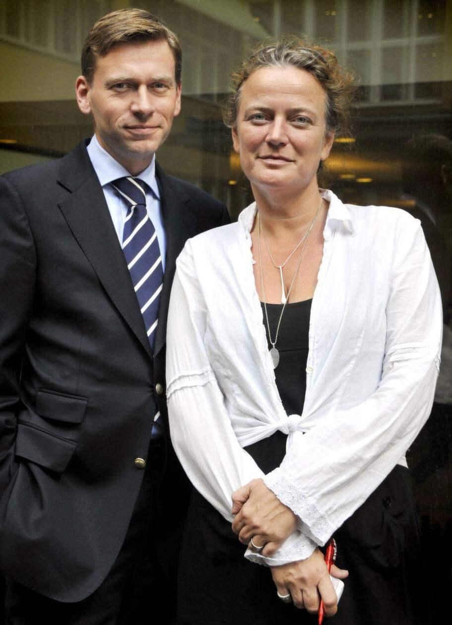 Svenska Schibsteds koncernchef Raoul Grünthal och SVD:s chefredaktör Lena K Samuelsson. Foto: Joakim Ståhl / Svd / Scanpix