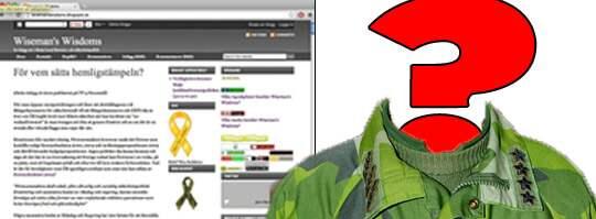"""VISDOMSORD. Bloggaren """"Wiseman"""" har bekräftat för Expressen att han är officer inom försvaret."""