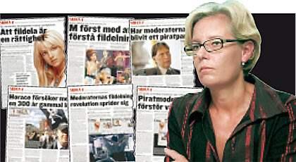På bilden Cecilia Renfors. Sidan 4 har i en serie artiklar skrivit om fildelning. Först ut var sju moderata riksdagsmän som hävdade att fildelning är en rättighet. I dag skriver regeringens utredare Cecilia Renfors och Johan Axhamn att enda sättet att stopppa olaglig fildelning är att kräva att internetleverantörerna agerar. Foto: Mats Andersson/ Scanpix