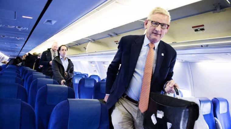 Tiden som utrikesminister är över, men ett lugnt pensionärsliv är inget som lockar Carl Bildt. Resan går vidare. Foto: Anna-Karin Nilsson