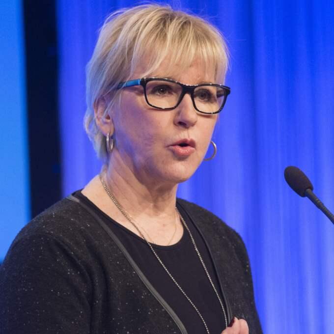 Frågan bör tas i FN i stället, hävdar utrikesminister Margot Wallström i ett pressmeddelande. Foto: Sven Lindwall