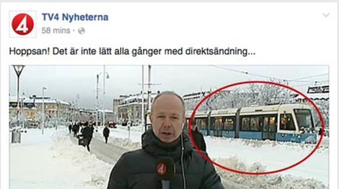 """Bo Carlsson skrattar bara åt blundern: """"Tar det med en klackspark."""" Foto: Facebook"""